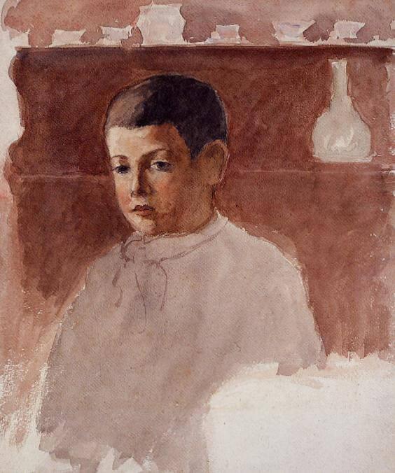 Портрет Люсьен Писсарро - Камиль Писсарро (1875)