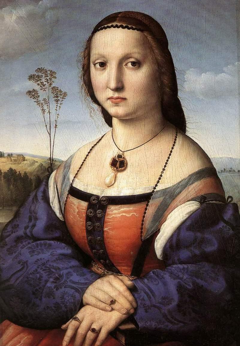 Портрет Маддалена Дони - Рафаэль Санти (1506, Палаццо Питти, Флоренция)