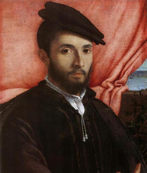 Портрет молодого человека - Лоренцо Лотто (1526,Галерея Академии, Венеция)