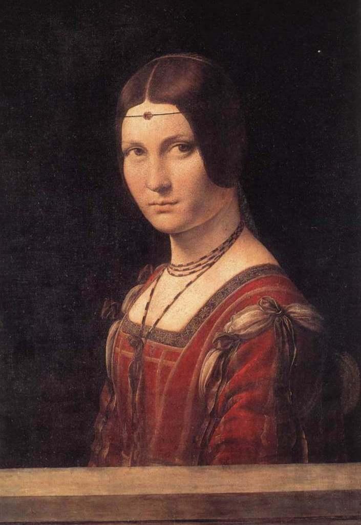 Портрет незнакомки (прекрасная ферроньера) - Леонардо да Винчи (1490)