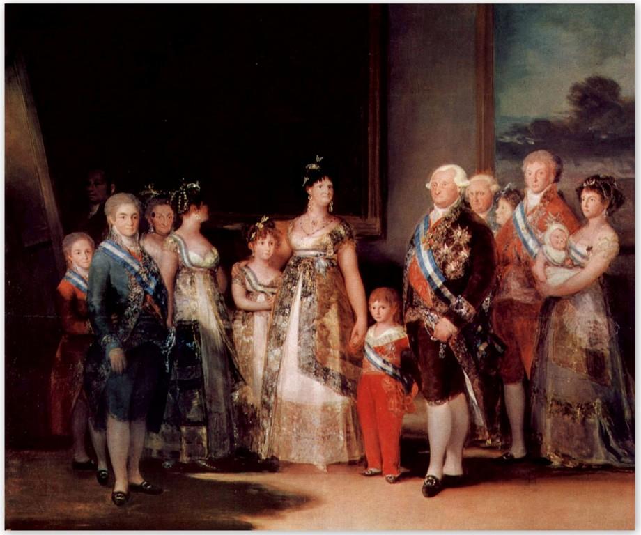 Портрет семьи Карла IV испанского - Франсиско Гойя (1800)