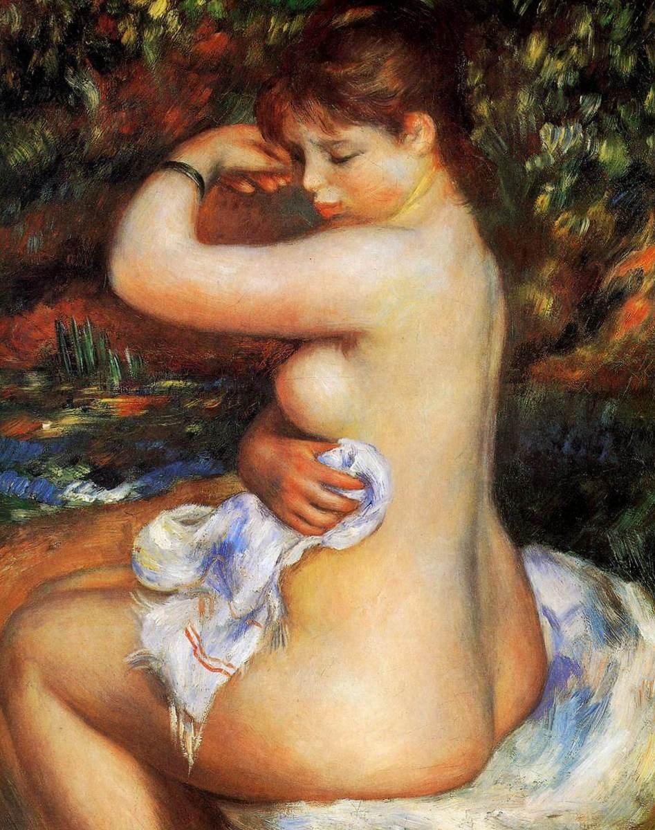 После купания - Пьер Огюст Ренуар (1888)