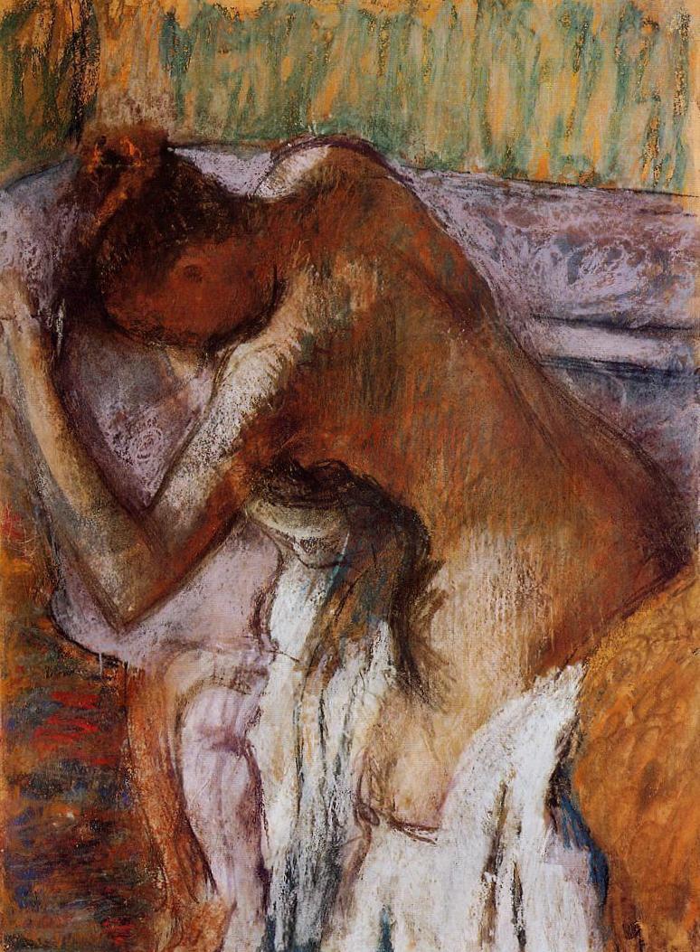 После ванны - Эдгар Дега (1900-1910)