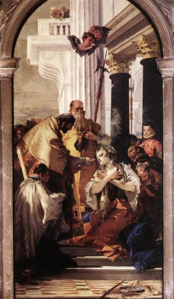 Последнее причастие святой Люси - Джованни Баттиста Тьеполо (1747 - 1748)