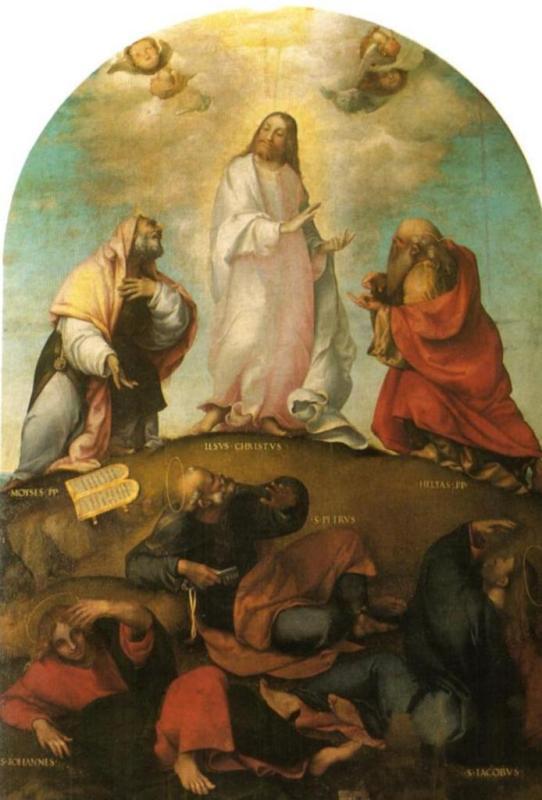 Преображение Христа - Лоренцо Лотто (ок. 1513, Пинакотека, Реканати)