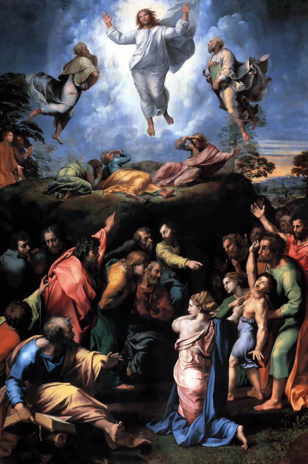 Преображение - Рафаэль Санти (1518-1520, в нижней части завершено Джулио Романо; Пинакотека Ватикана)