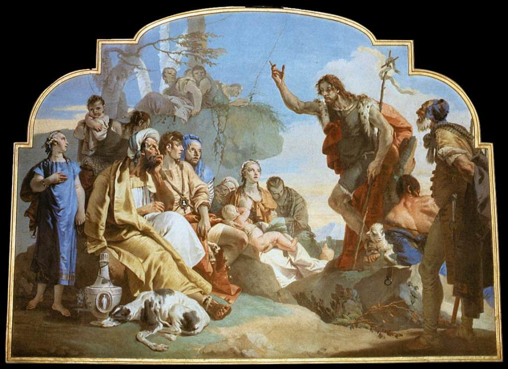 Проповедь Иоанна Крестителя - Джованни Баттиста Тьеполо (1732 - 1733)