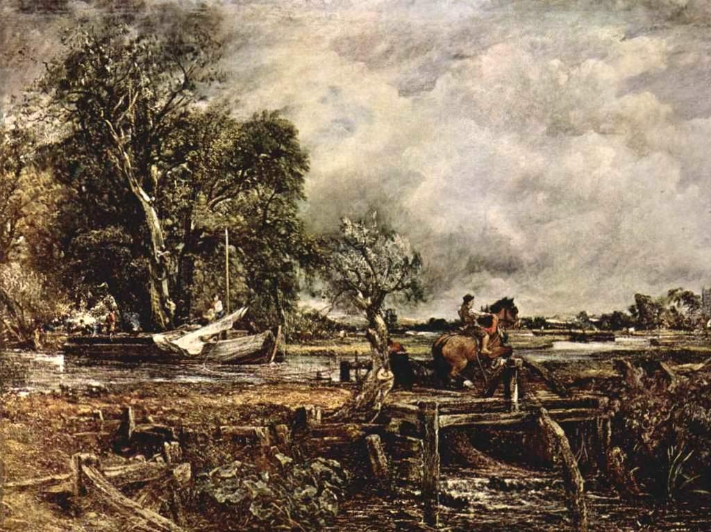 Прыгающая лошадь - Джон Констебл (1825)