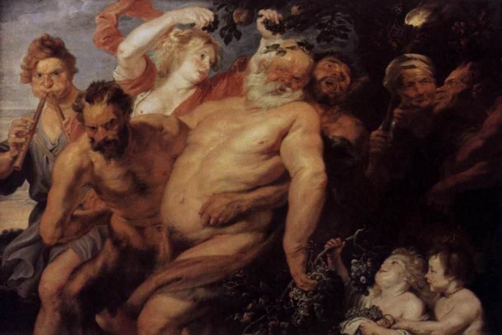 Пьяный силен - Питер Пауль Рубенс (ок. 1613—1618, Мюнхен)