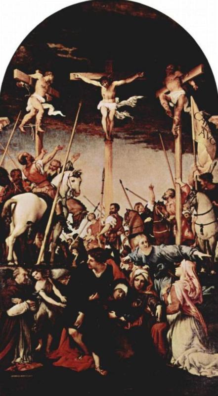 Распятие - Лоренцо Лотто (1531 в церкви Монте Сан-Джусто)