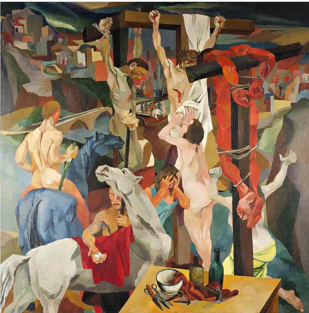 Распятие - Ренато Гуттузо (1941, частное собрание, Генуя)