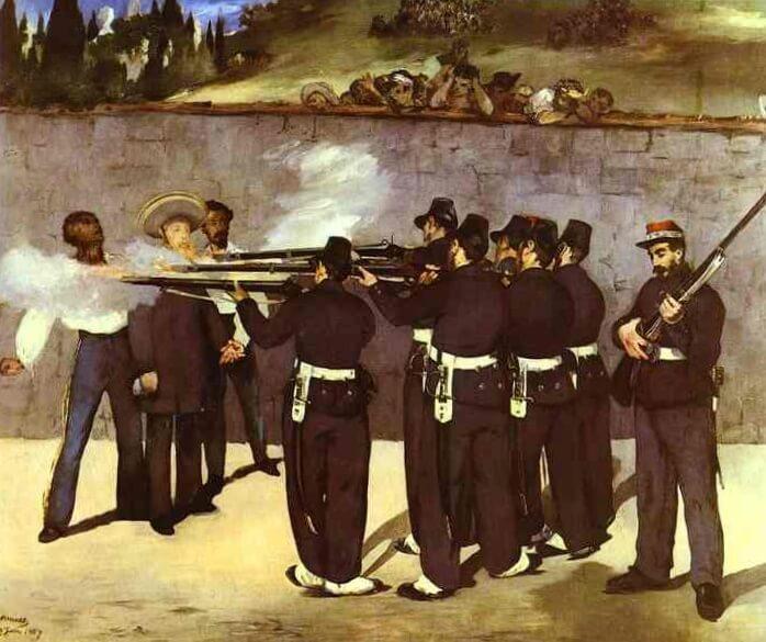 Расстрел Императора Максимилиана - Эдуар Мане (1868)