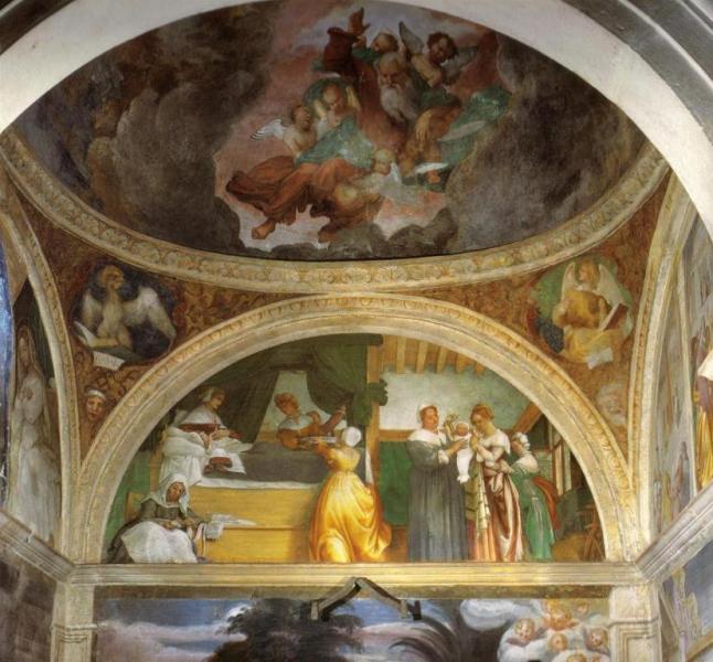 Рождество Марии - Лоренцо Лотто (1524)