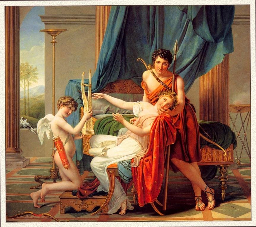 Сафо и Фаон - Жак Луи Давид (1809)