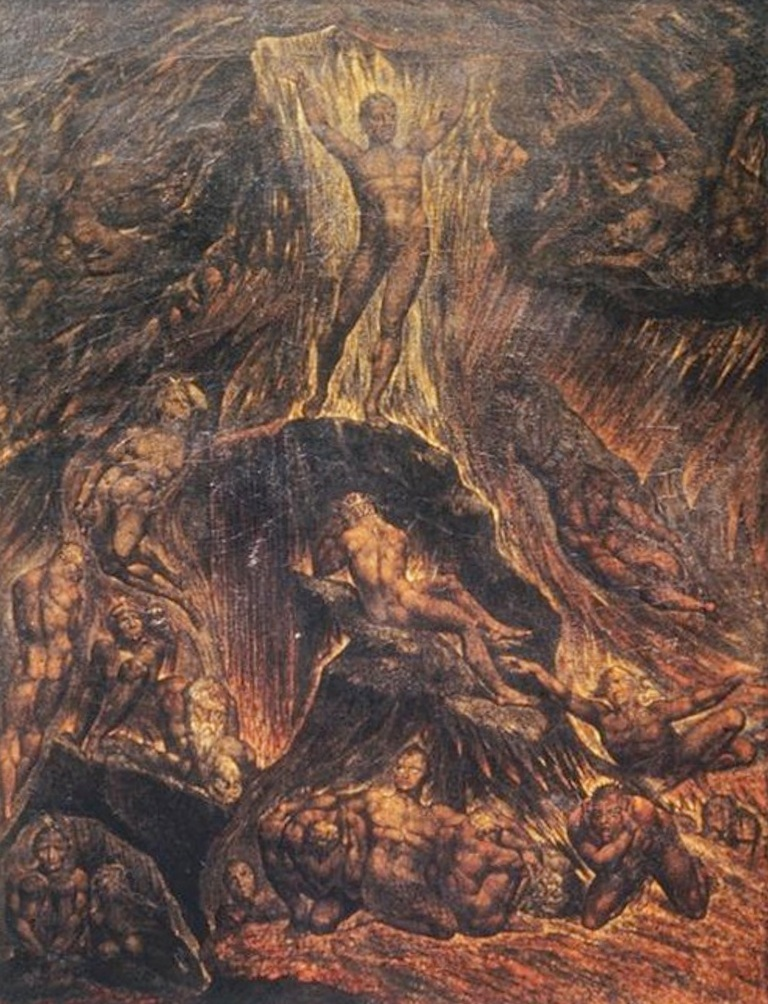 Сатана призывает свой легионы - Уильям Блейк (1804)