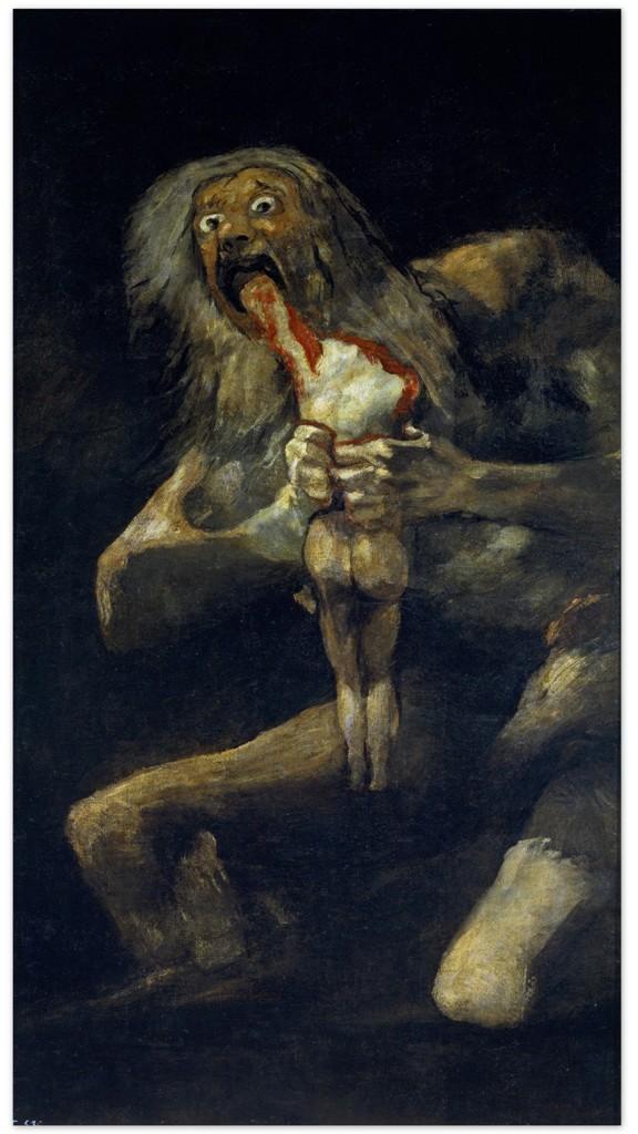 Сатурн пожирающий своего сына - Франсиско Гойя (1819 - 1823)