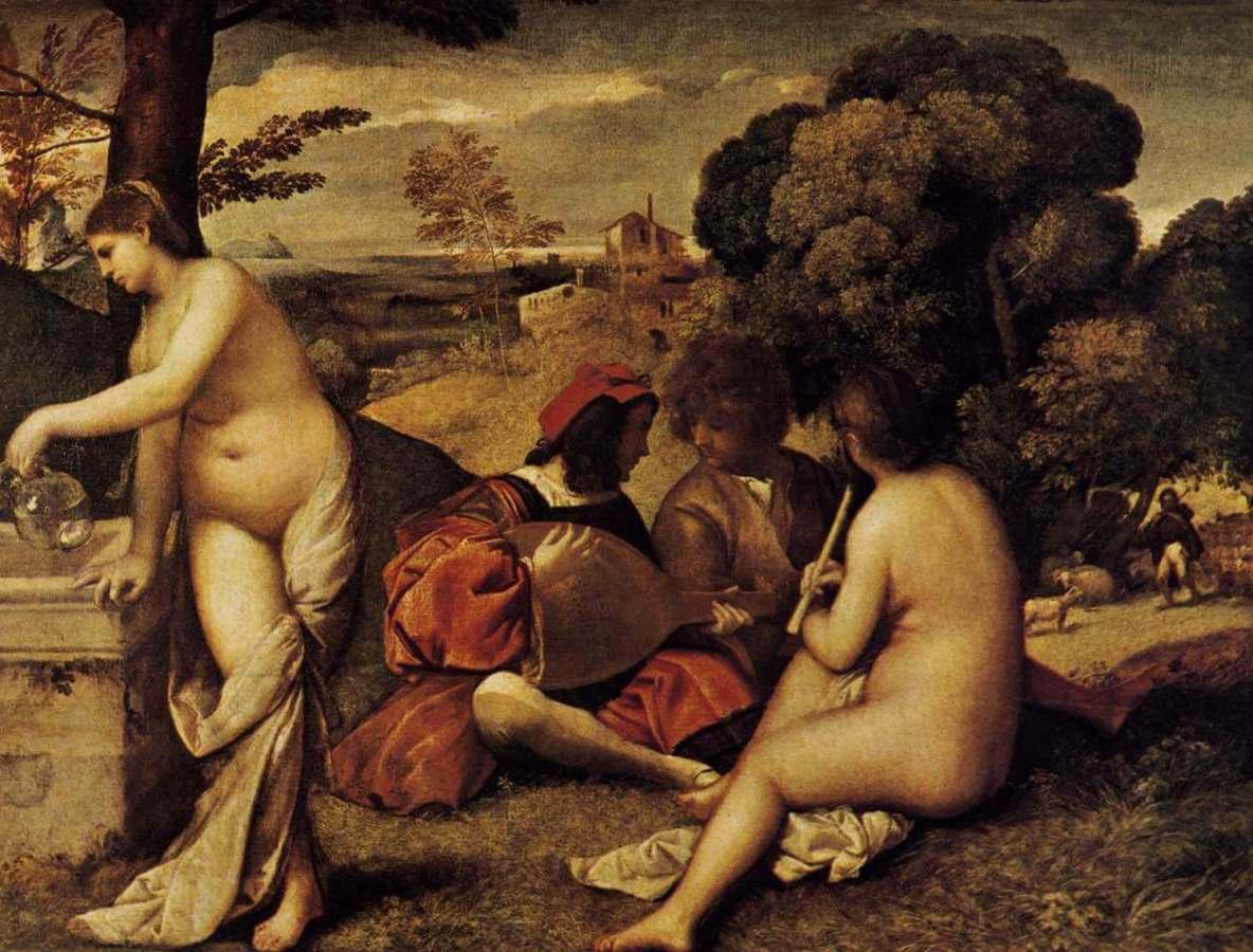 Сельский концерт - Джорджоне (ок. 1510)