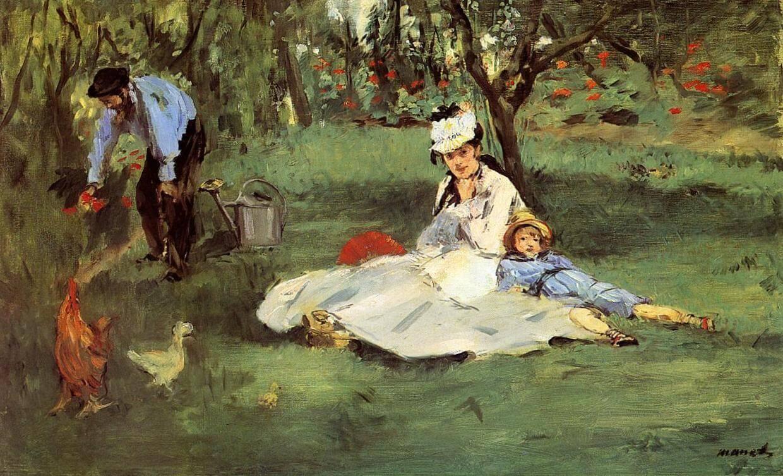 «Семья Моне в саду в Аржантёй» - Эдуар Мане (1874, Музей изящных искусств, Турнэ)