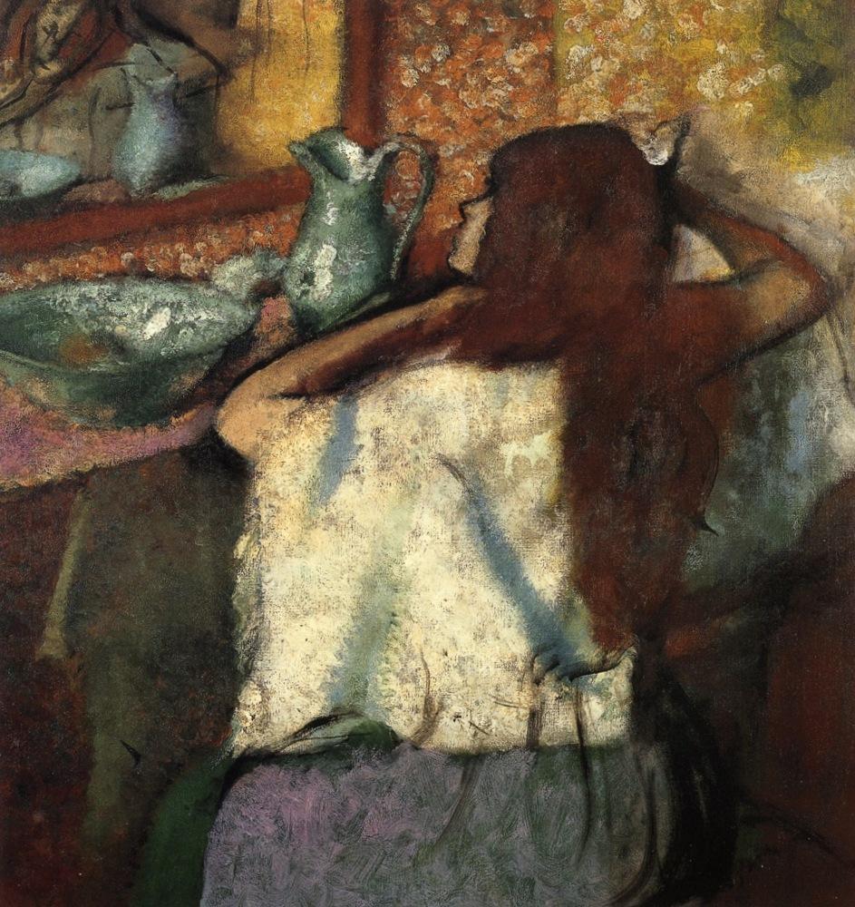 Серия Женщины за туалетом - Эдгар Дега (1895)