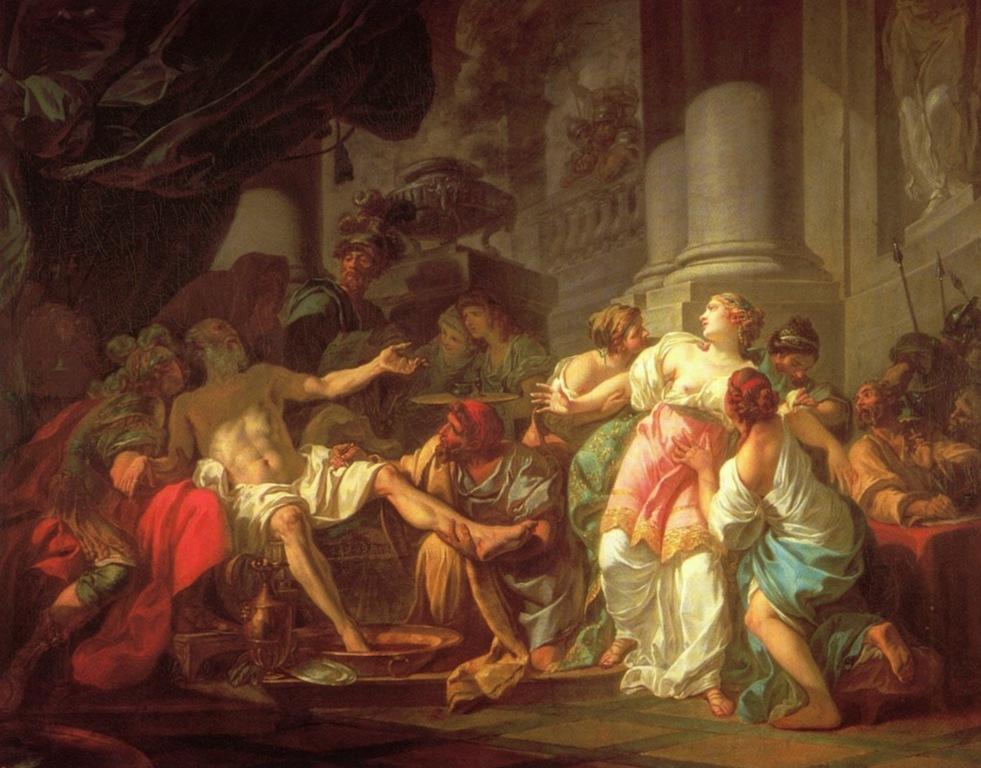 Смерть Сенеки - Жак Луи Давид (1773)