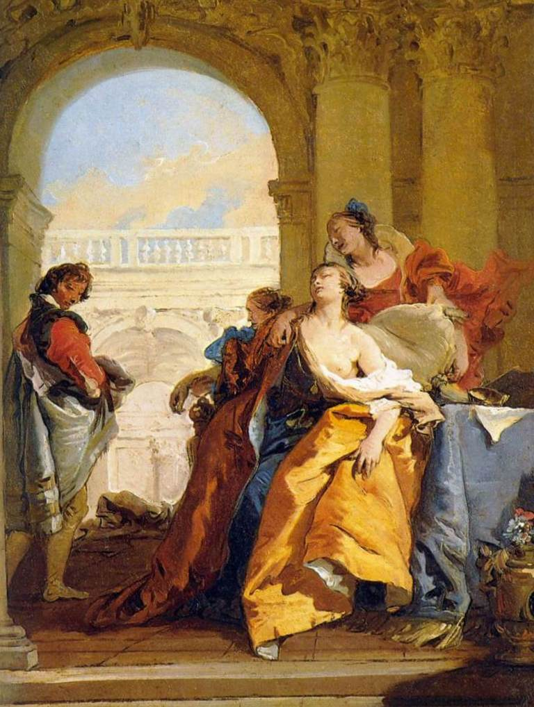 Смерть Софонисба - Джованни Баттиста Тьеполо (1755 - 1760)