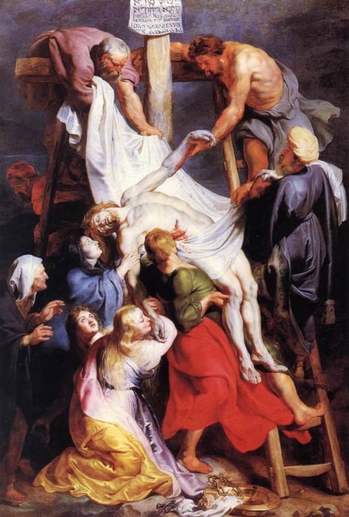 Снятие с креста - Питер Пауль Рубенс (1611—1614, собор Антверпена)