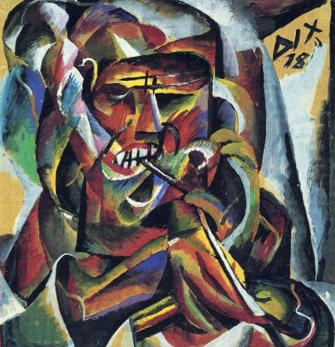 Солдат с трубкой - Отто Дикс (1918)
