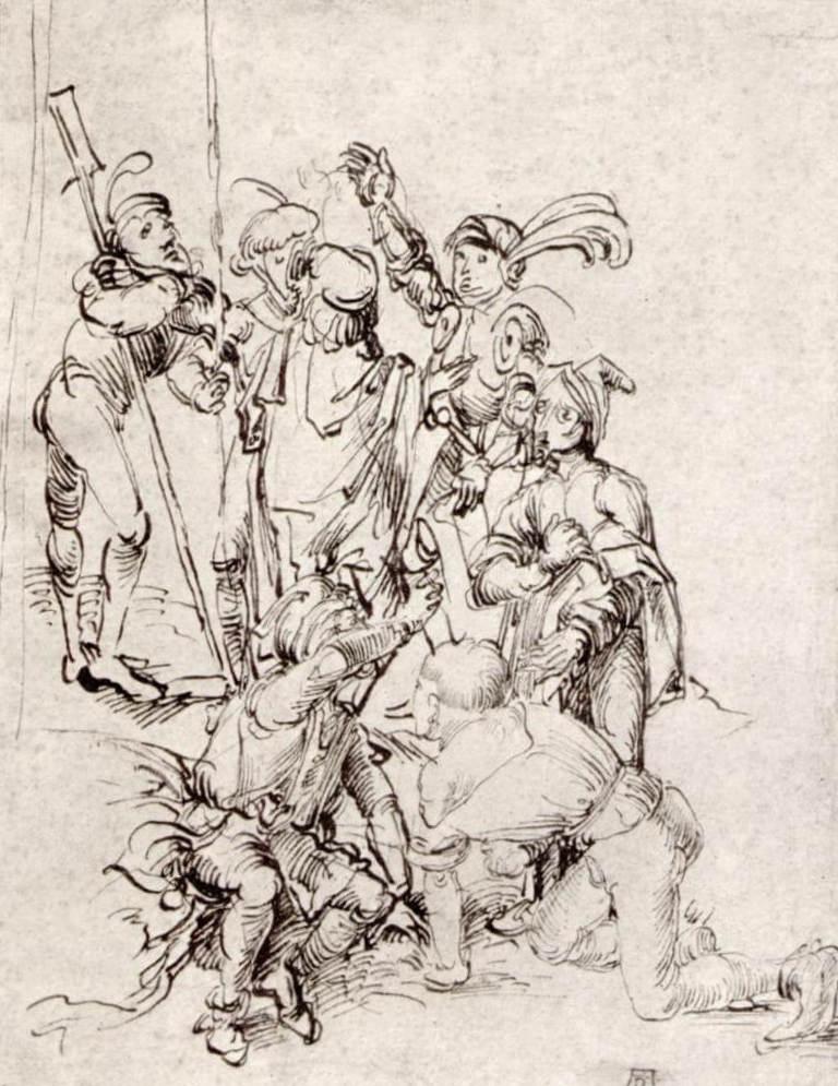 Солдаты под крестом - Альбрехт Дюре (1489)