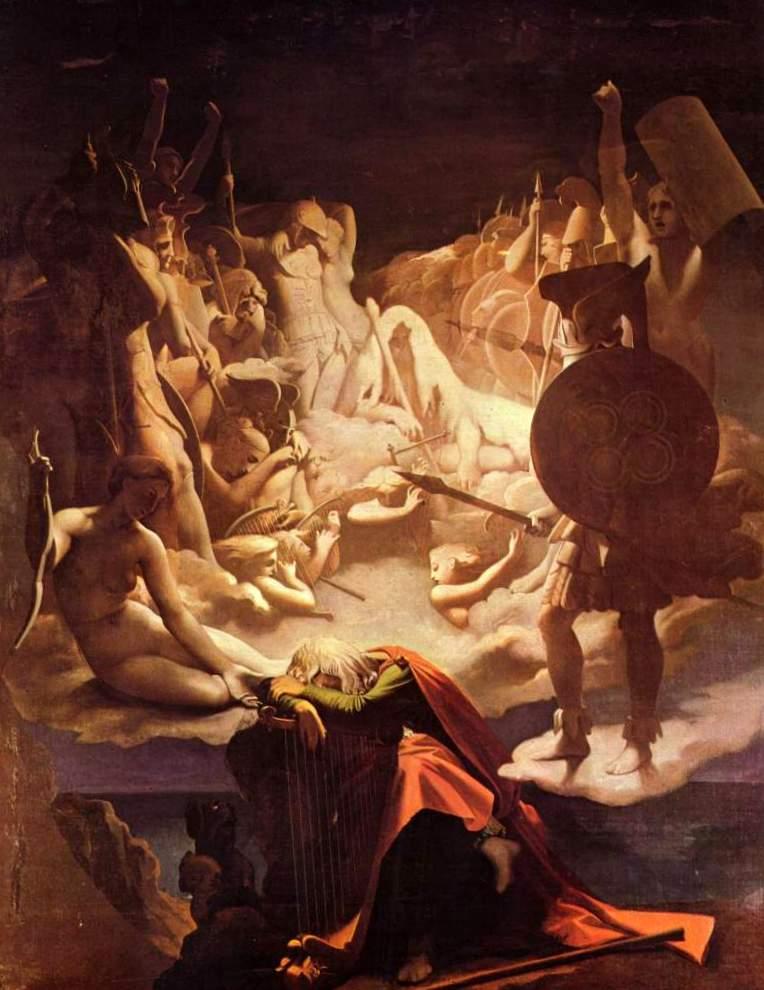 Сон Оссиана - Жан Огюст Доминик Энгр (1813-1815, Музей Энгра, Монтобан)