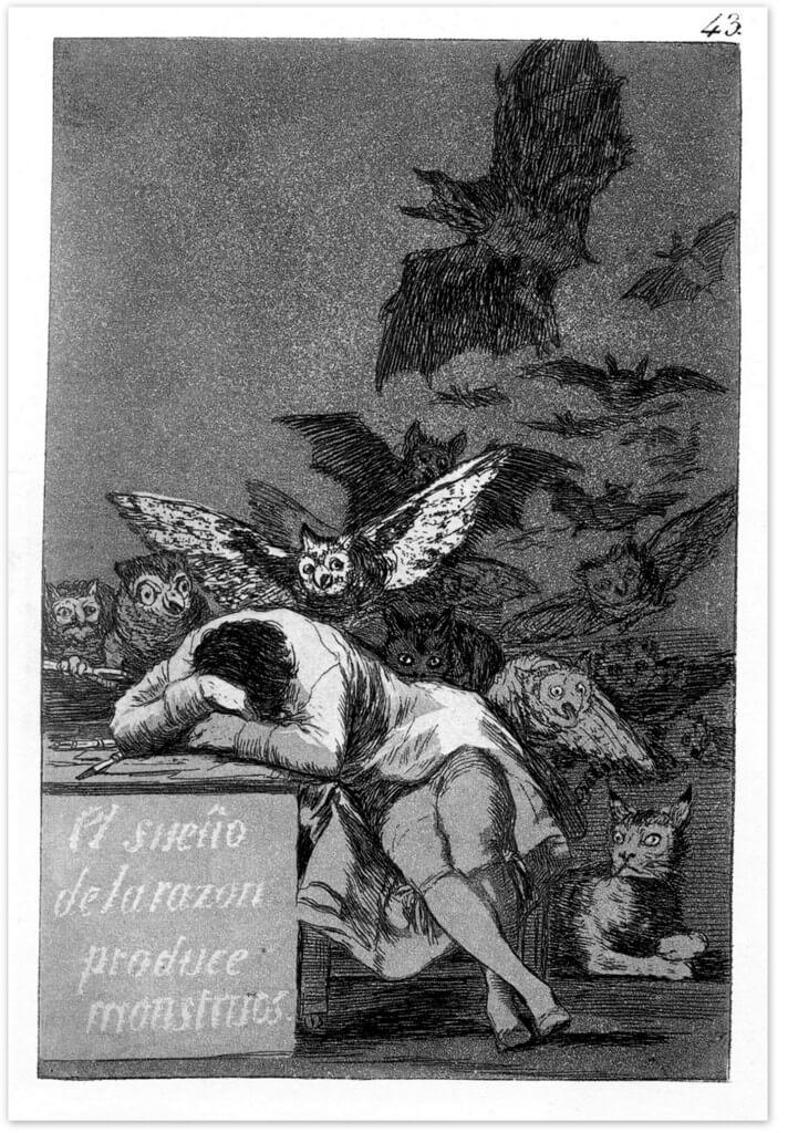 Сон разума порождает чудовищ - Франсиско Гойя