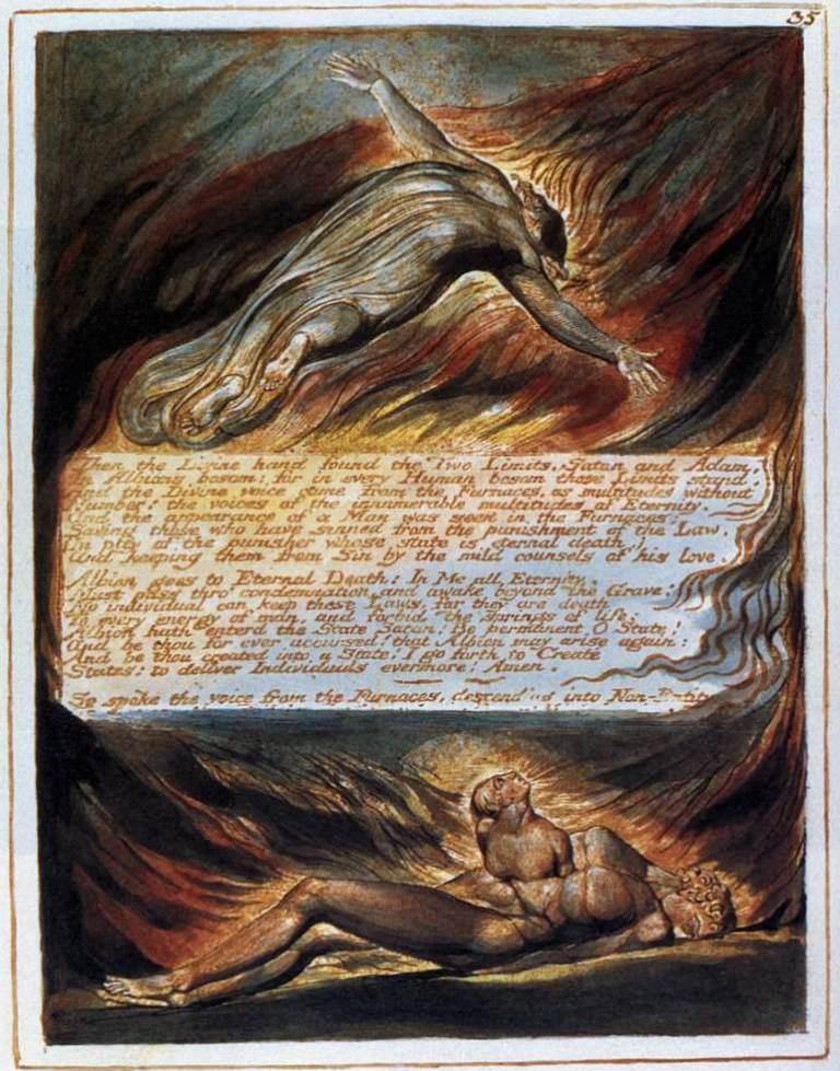 Сошествие Христа - Уильям Блейк (1804 -1820)