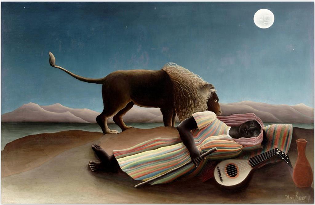 Спящая цыганка – Анри Руссо (1897, Нью-Йоркский музей современного искусства)