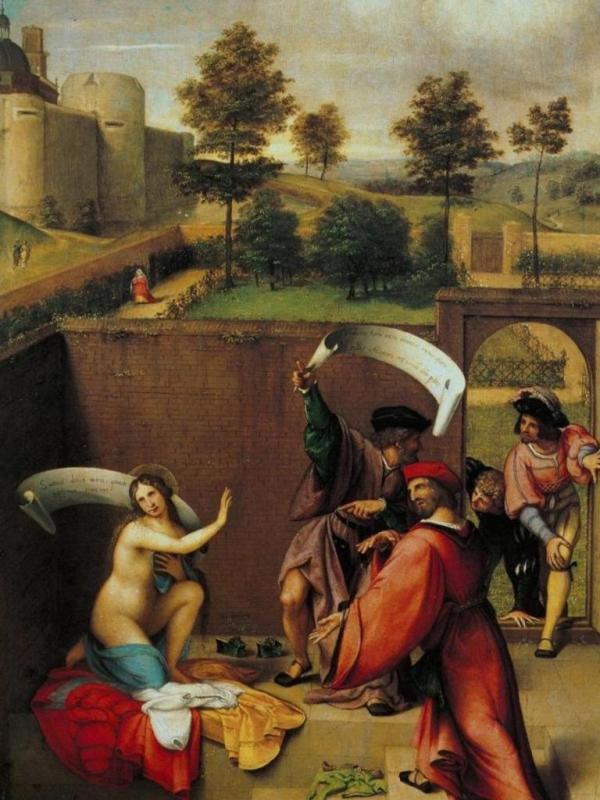 Сусанна и старцы - Лоренцо Лотто (1517)