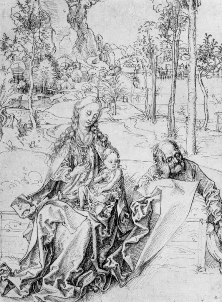 Святое семейство - Альбрехт Дюре (1493 -1494)