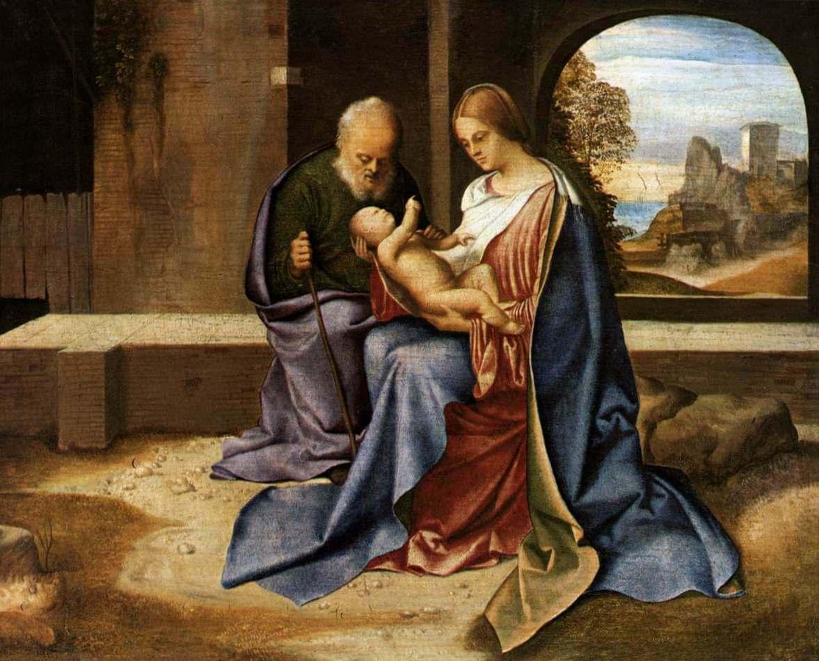 Святое семейство (Мадонна Бенсон) - Джорджоне (1500)