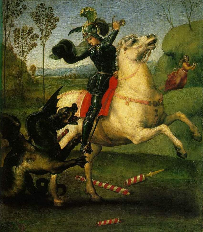 Святой Георгий - Рафаэль Санти (1503, Лувр, Париж)