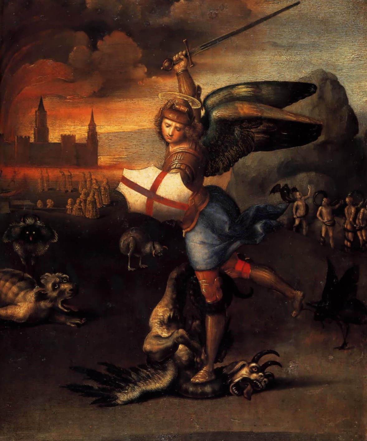 Святой Михаил - Рафаэль Санти (1503 - 1505, Лувр, Париж)