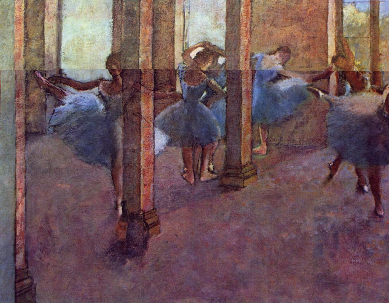 Танцевальное фойе Оперы на улице Ле-Пелетье - Эдгар Дега (1887-1890)