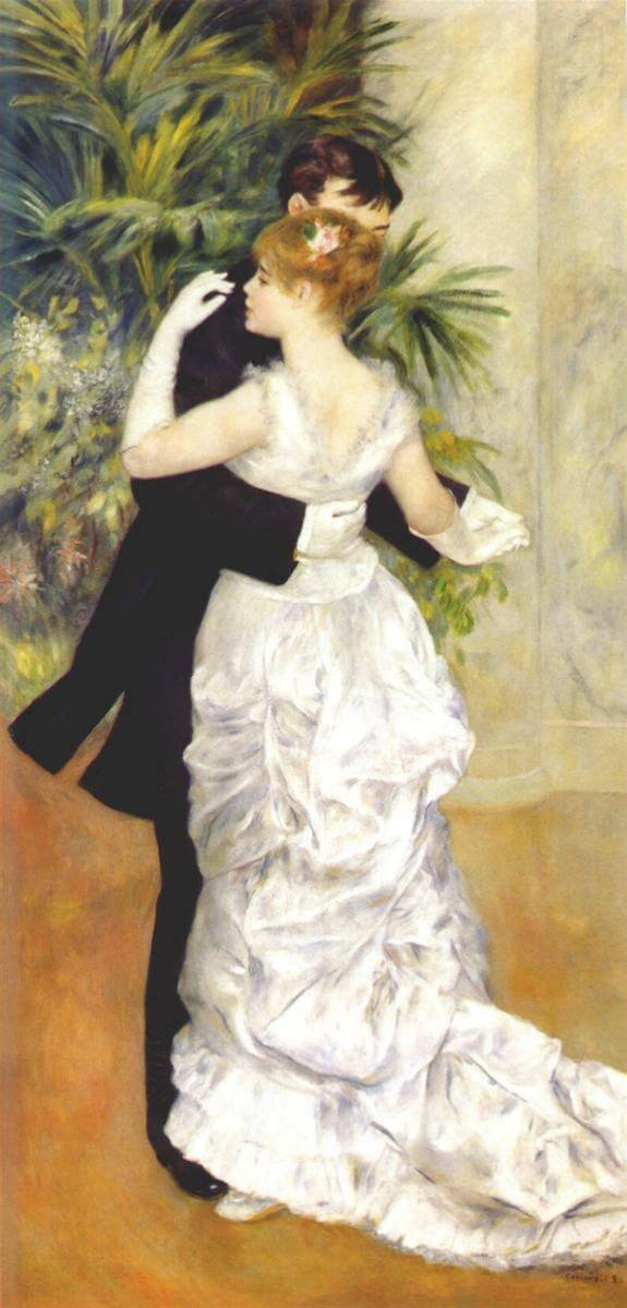 Танец в городе - Пьер Огюст Ренуар (1883)