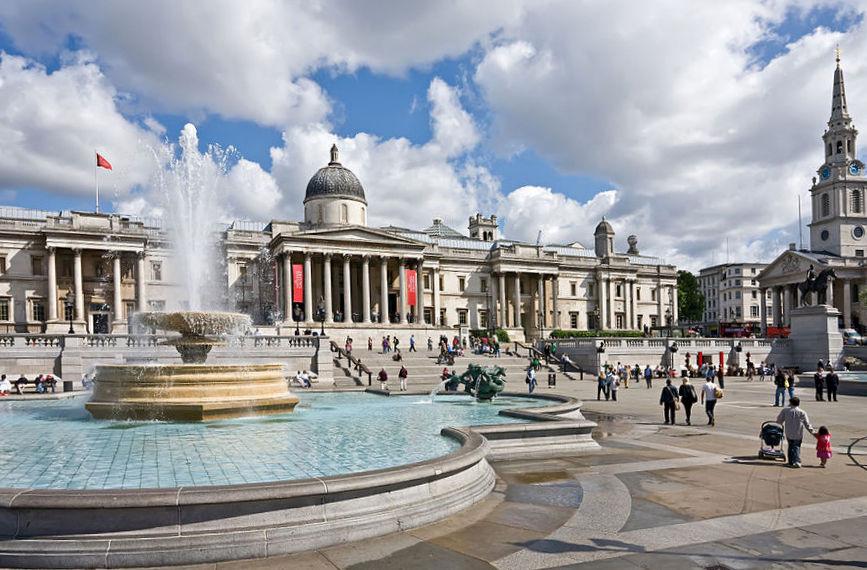Трафальгарская площадьв Лондоне - архитектор Джон Нэш (1752—1835)