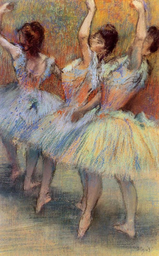 Три танцовщицы - Эдгар Дега (1881)