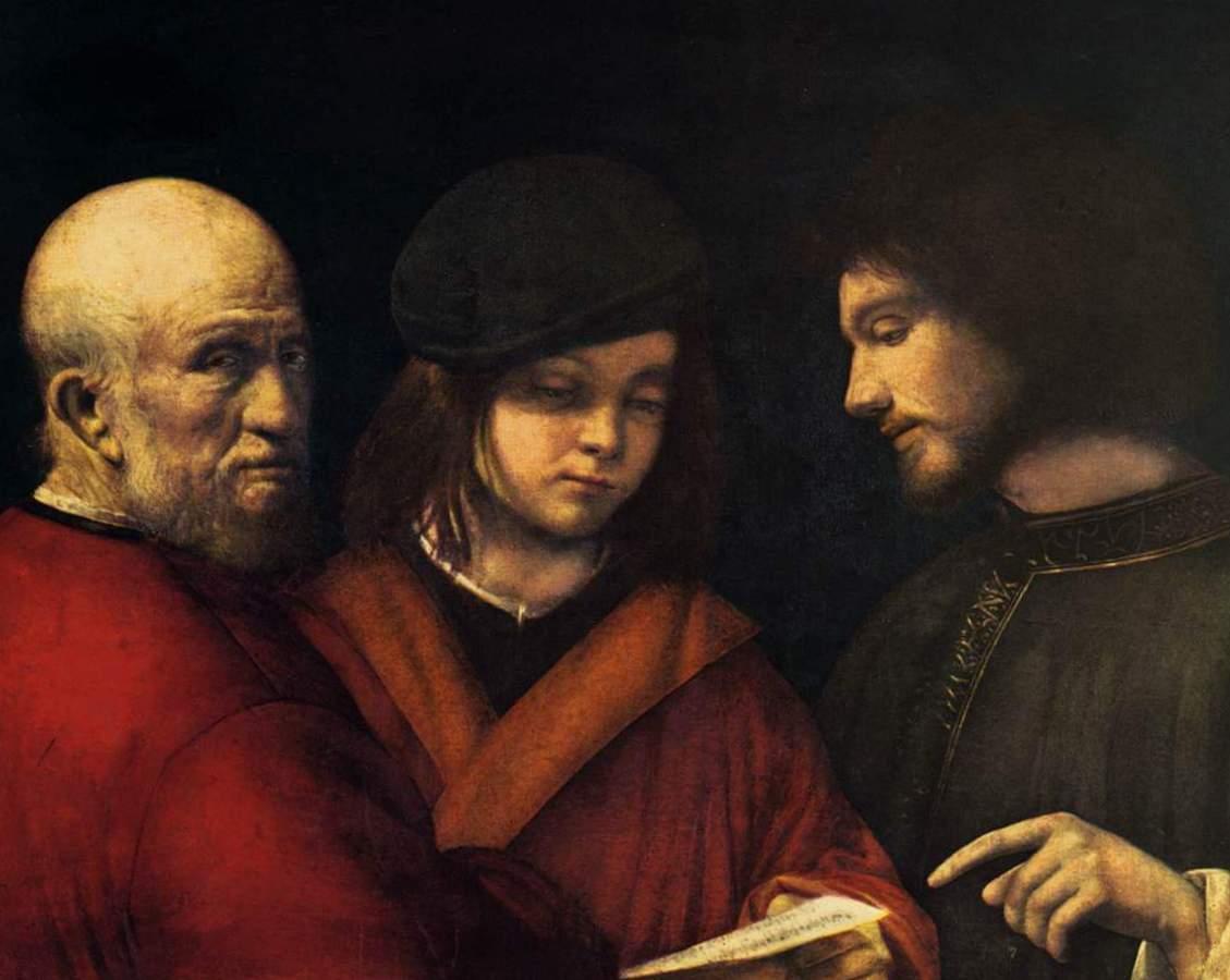 Три возраста Человек - Джорджоне (1500-1501)
