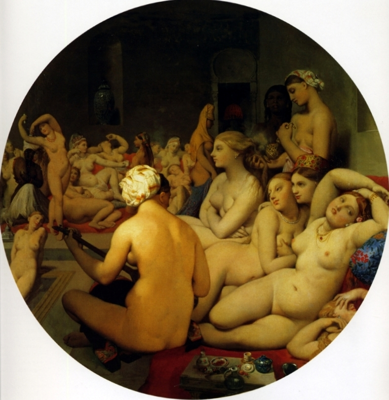 Турецкая баня - Жан Огюст Доминик Энгр (1859-1863, Лувр, Париж)
