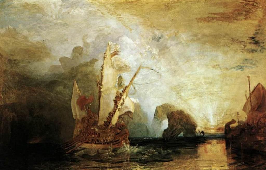 Улисс, ослепляющий Полифема - Уильям Тёрнер (1829, Национальная галерея, Лондон)