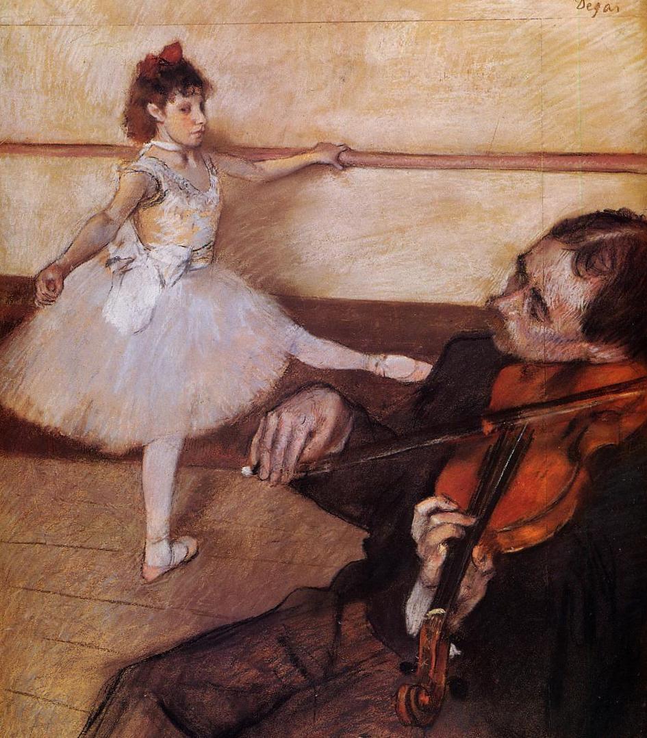Урок танца - Эдгар Дега (1879)