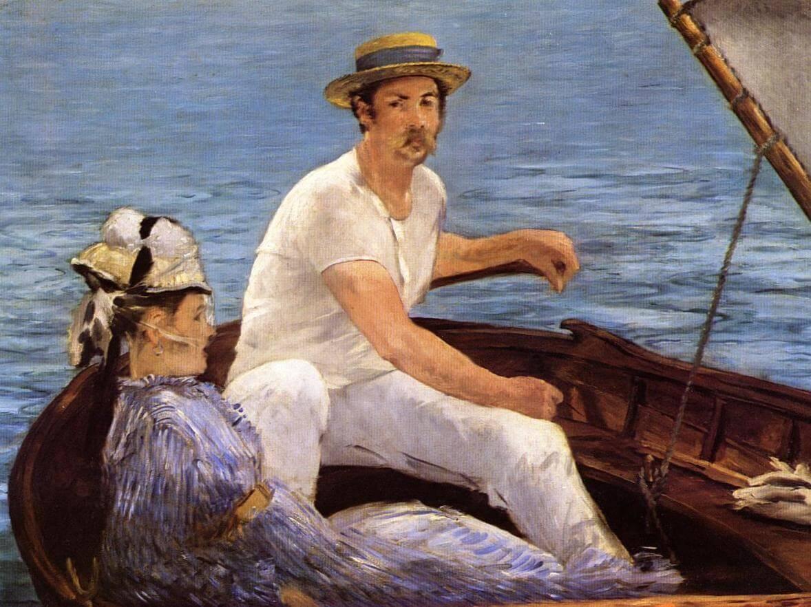 В лодке - Эдуар Мане ( 1874, Метрополитен-музей, Нью-Йорк)