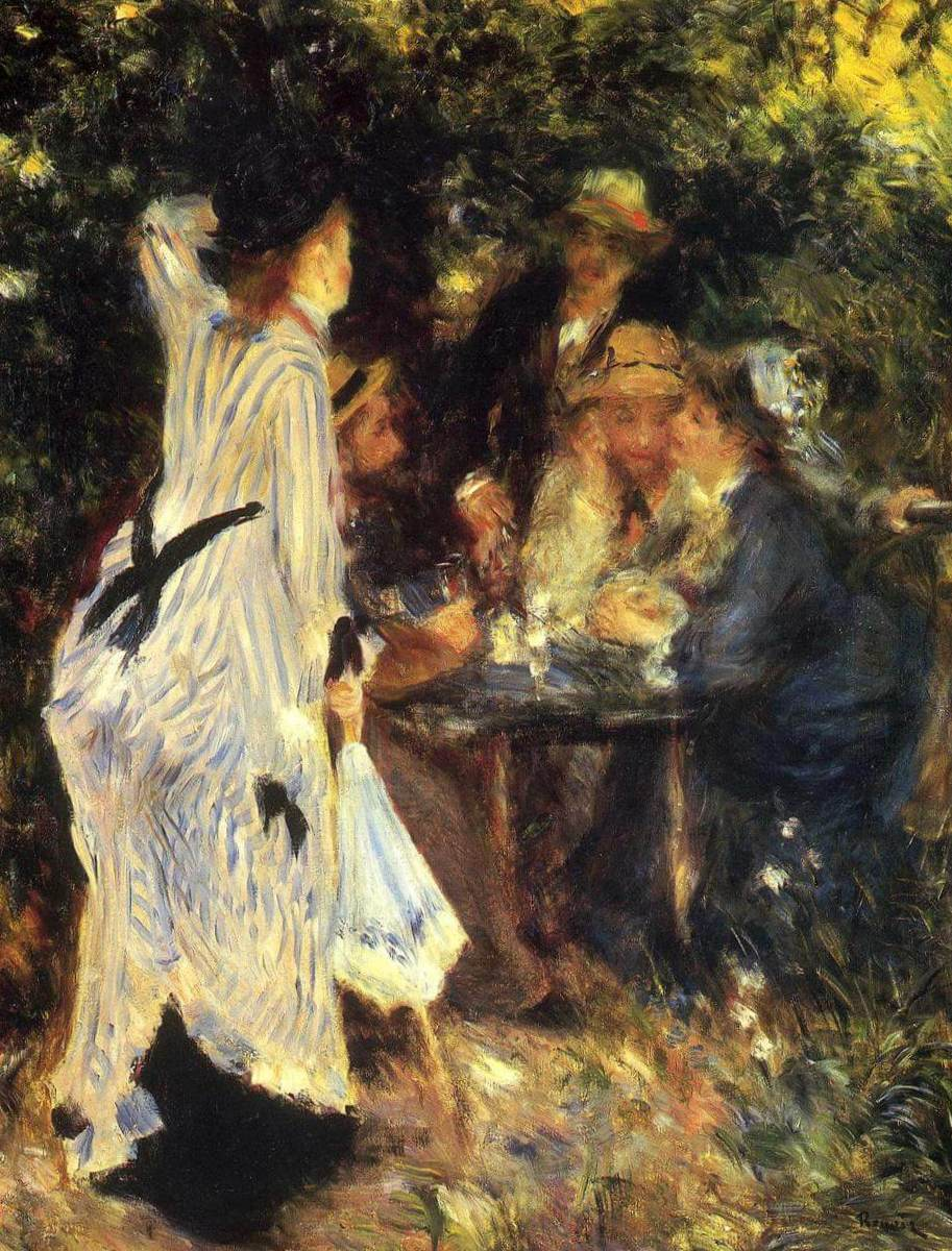 В саду - Пьер Огюст Ренуар (1876)