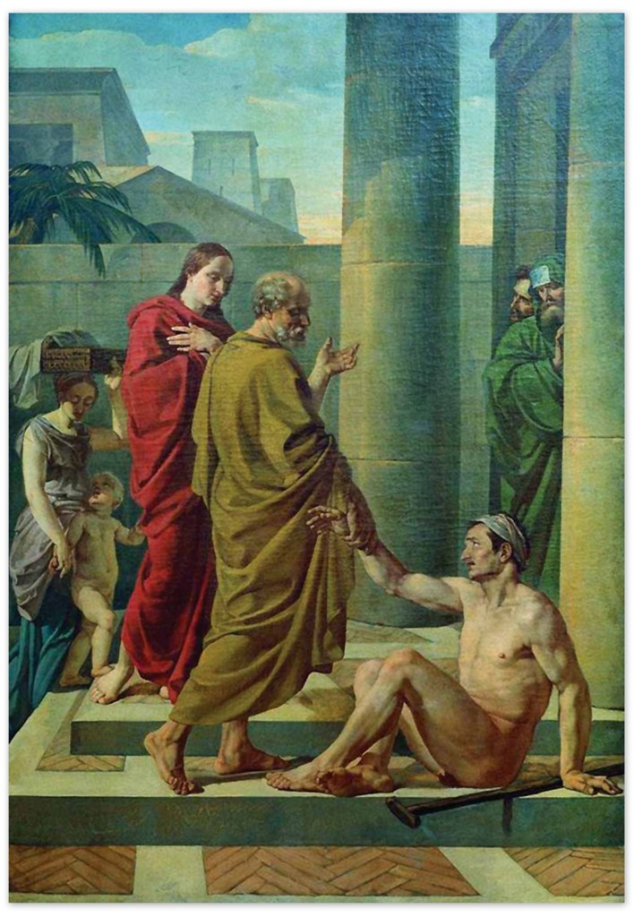 Василий Козьмич Шебуев - Апостолы Петр и Иоанн исцеляют хромого (1838, Государственный Русский музей)