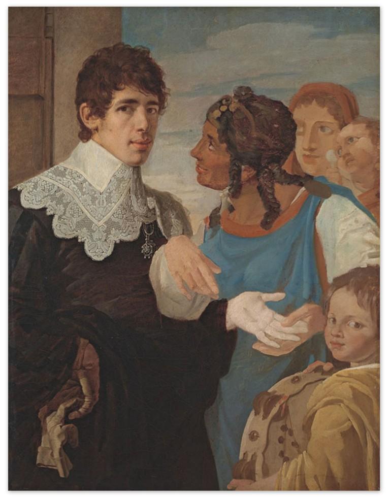 Василий Козьмич Шебуев - Гадание. Автопортрет (1805-1807)