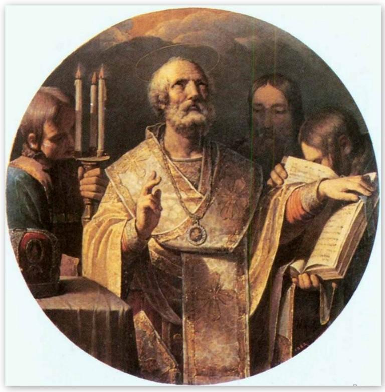 Василий Козьмич Шебуев - Николай Чудотворец (1809, Государственный Русский музей)